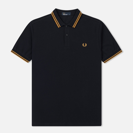 Мужское поло Fred Perry M3600 Twin Tipped Navy/Burnt Amber/Burnt Amber