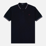 Fred Perry M3600 Twin Tipped Men's Polo Navy/Glacier/Port photo- 0