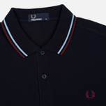 Fred Perry M3600 Twin Tipped Men's Polo Navy/Glacier/Port photo- 1