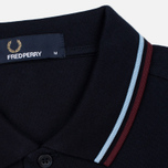 Fred Perry M3600 Twin Tipped Men's Polo Navy/Glacier/Port photo- 3