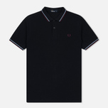 Мужское поло Fred Perry M3600 Twin Tipped Navy/Light Smoke/Bramble фото- 0