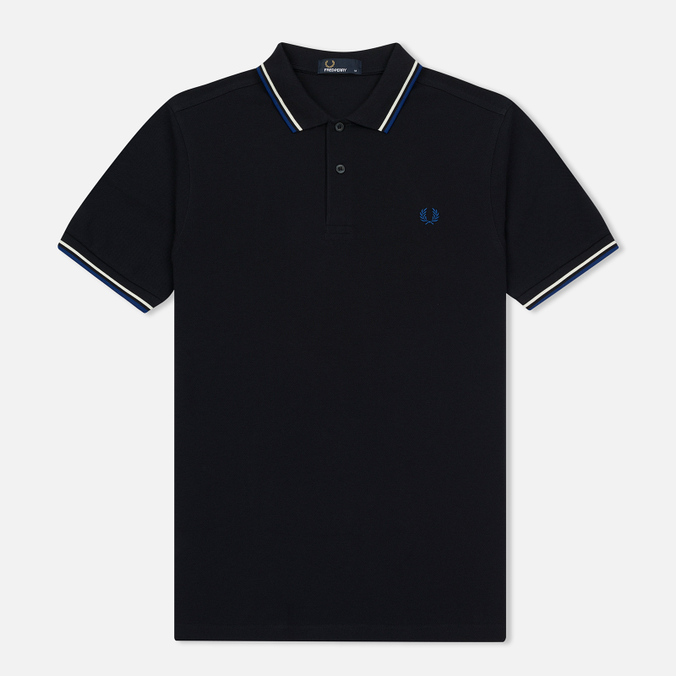 Мужское поло Fred Perry M3600 Twin Tipped Navy/Snow White/Pacific