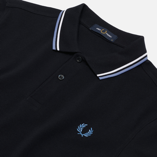 Мужское поло Fred Perry M3600 Twin Tipped Navy/Snow White/Riviera