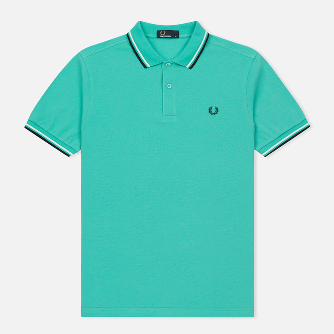 Мужское поло Fred Perry M3600 Twin Tipped Peppermint/Snow White/Navy