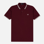 Fred Perry M3600 Twin Tipped Men's Polo Port/Ecru photo- 0