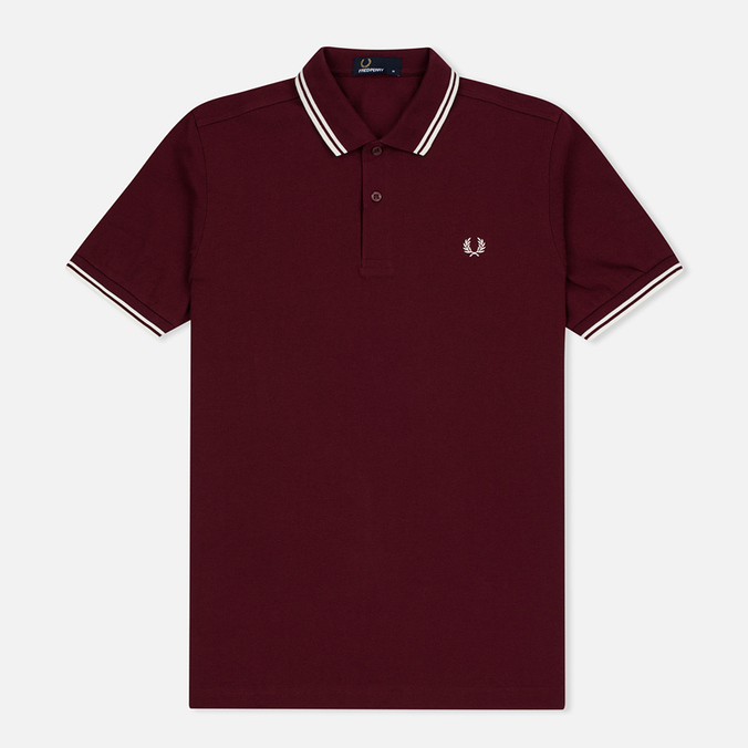 Fred Perry M3600 Twin Tipped Men's Polo Port/Ecru