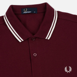 Fred Perry M3600 Twin Tipped Men's Polo Port/Ecru photo- 1