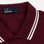 Fred Perry M3600 Twin Tipped Men's Polo Port/Ecru photo- 2