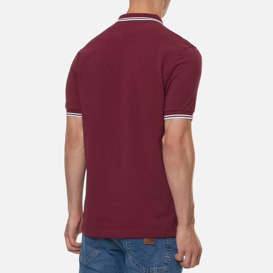 Мужское поло Fred Perry M3600 Twin Tipped Port/White/White