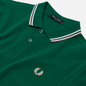 Мужское поло Fred Perry M3600 Twin Tipped Raf Green/White/Silver Pink фото - 1