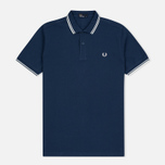 Мужское поло Fred Perry M3600 Twin Tipped Service Blue/White фото- 0