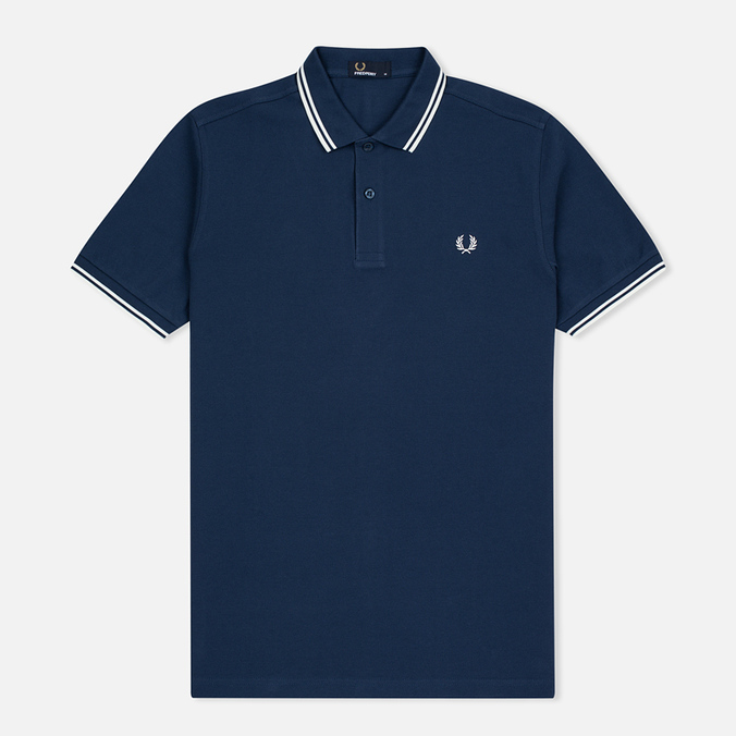 Мужское поло Fred Perry M3600 Twin Tipped Service Blue/White