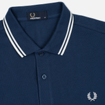Мужское поло Fred Perry M3600 Twin Tipped Service Blue/White фото- 1