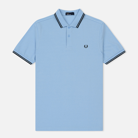 Мужское поло Fred Perry M3600 Twin Tipped Sky Blue/Black/Black