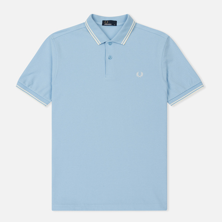 Мужское поло Fred Perry M3600 Twin Tipped Sky Blue/Ecru/Ecru