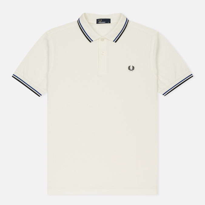 Мужское поло Fred Perry M3600 Twin Tipped Snow White/Regal/Navy
