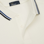Мужское поло Fred Perry M3600 Twin Tipped Snow White/Regal/Navy фото- 2