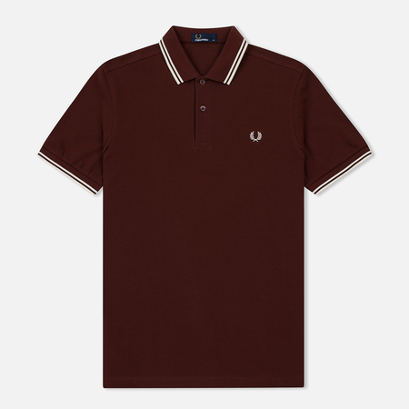 Мужское поло Fred Perry M3600 Twin Tipped Stadium Red/Ecru/Ecru