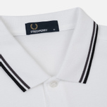 Мужское поло Fred Perry M3600 Twin Tipped White/Iced Slate/Black фото- 1