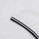 Мужское поло Fred Perry M3600 Twin Tipped White/Iced Slate/Black фото- 3