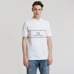 Мужское поло Fred Perry Panel Piped Pique White фото- 1
