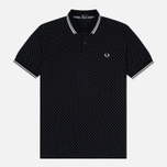 Мужское поло Fred Perry Printed Polka Dot Black фото- 0