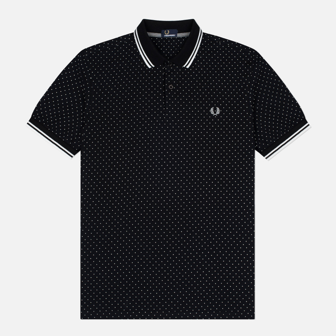 Мужское поло Fred Perry Printed Polka Dot Black