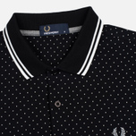 Мужское поло Fred Perry Printed Polka Dot Black фото- 1