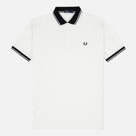 Мужское поло Fred Perry Printed Polka Dot Snow White