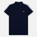 Мужское поло Fred Perry Sports Authentic Taped Pique Carbon Blue фото- 0