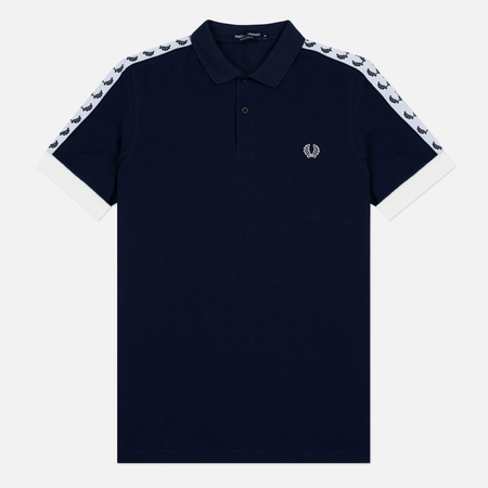 Fred Perry Sports Authentic Taped Pique Men's Polo Carbon Blue