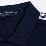 Мужское поло Fred Perry Sports Authentic Taped Pique Carbon Blue фото- 3