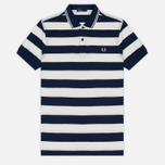 Мужское поло Fred Perry Striped Pique French Navy фото- 0