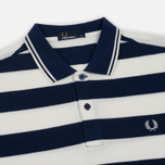 Мужское поло Fred Perry Striped Pique French Navy фото- 1