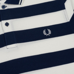 Мужское поло Fred Perry Striped Pique French Navy фото- 2