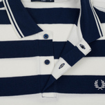 Мужское поло Fred Perry Striped Pique French Navy фото- 3