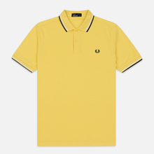 Мужское поло Fred Perry Twin Tipped Electric Yellow/White/Black фото- 0