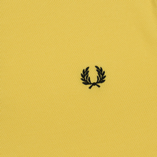 Мужское поло Fred Perry Twin Tipped Electric Yellow/White/Black фото- 2