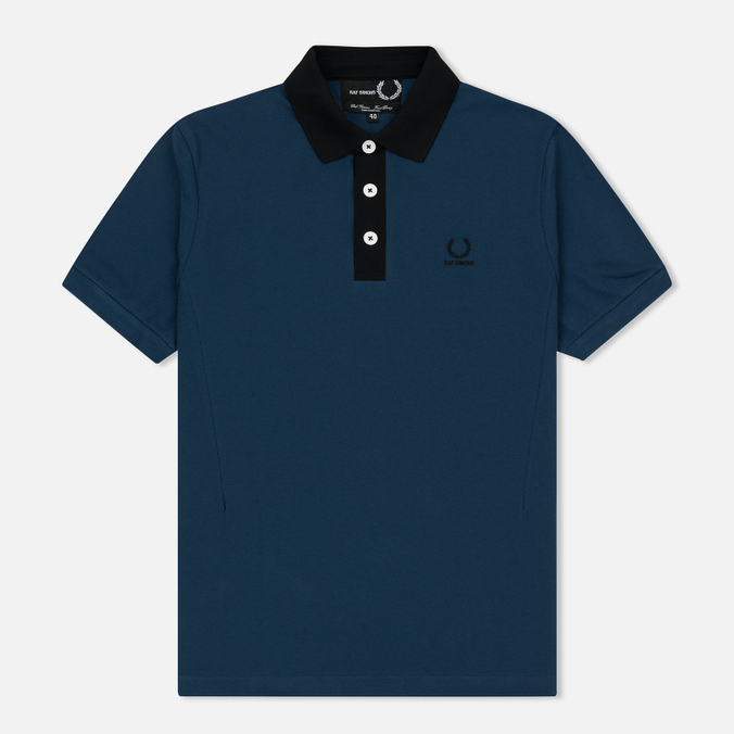 Мужское поло Fred Perry x Raf Simons Contract Collar Dark Blue