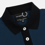 Мужское поло Fred Perry x Raf Simons Contract Collar Dark Blue фото- 1