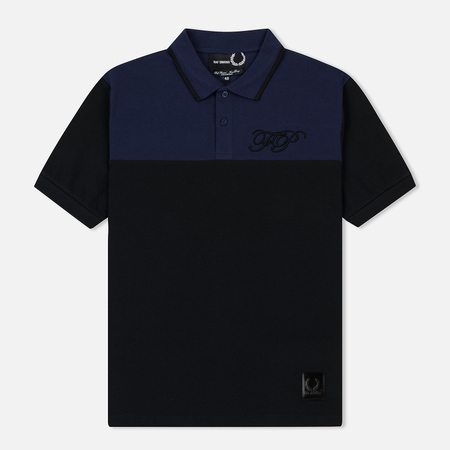 Мужское поло Fred Perry x Raf Simons Embroidered Initial Pique Black