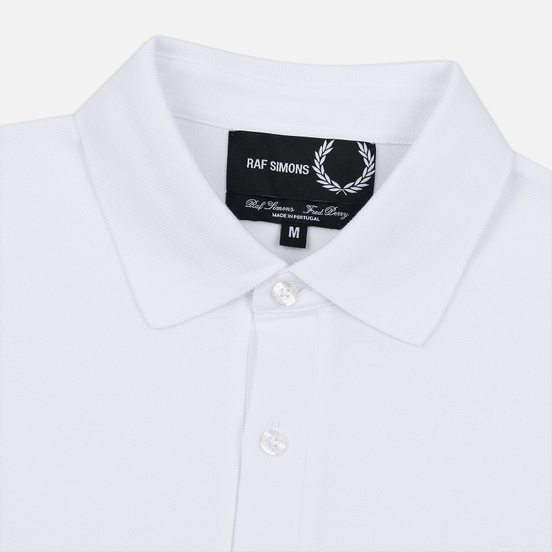 Мужское поло Fred Perry x Raf Simons Laurel Detail White