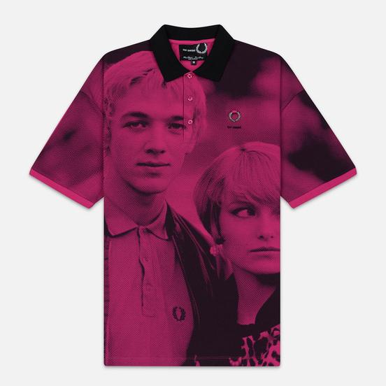 Мужское поло Fred Perry x Raf Simons Oversized Digital Print Pique Pop Pink