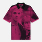 Мужское поло Fred Perry x Raf Simons Oversized Digital Print Pique Pop Pink фото - 0