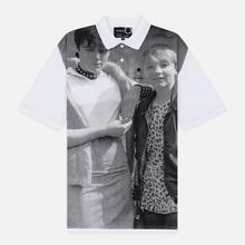 Мужское поло Fred Perry x Raf Simons Oversized Printed Pique White фото- 0