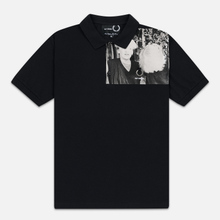 Мужское поло Fred Perry x Raf Simons Shoulder Print Black фото- 0