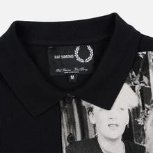Мужское поло Fred Perry x Raf Simons Shoulder Print Black фото- 1