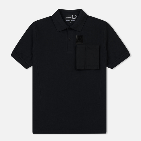 Мужское поло Fred Perry x Raf Simons Space Pocket Pique Black
