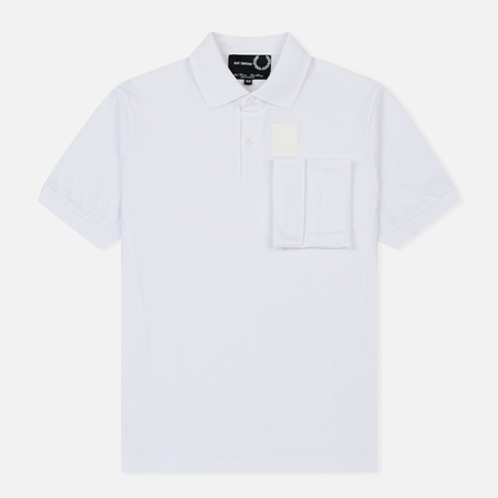 Мужское поло Fred Perry x Raf Simons Space Pocket Pique White