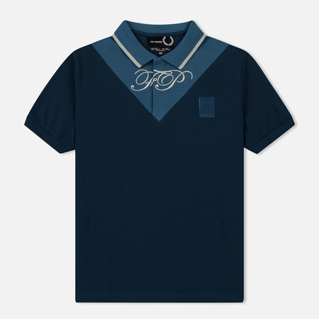 Мужское поло Fred Perry x Raf Simons V-Insert Pique Peacock Blue